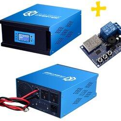 อินเวอร์เตอร์ Pure Sine Wave 350W 12V to 220V CKS PT + Charger controller 10A (Ring Transfomer)
