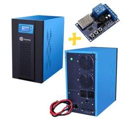 อินเวอร์เตอร์ Pure Sine Wave 2000W 48V to 220V CKS PT + Charger controller 40A (Ring Transfomer)