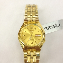 นาฬิกาข้อมือ SEIKO สีทอง Automatic รุ่น SNK322K1