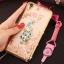 (025-211)เคสมือถือ Case OPPO F1 Plus (R9) เคสนิ่มใสขอบชุบลายดอกไม้ประดับแหวนโลหะ thumbnail 7