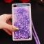 (549-001)เคสมือถือ Case Huawei P8 Lite เคสพลาสติกใส Glitter ทรายดูดหัวใจ thumbnail 19