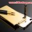 (025-155)เคสมือถือ Case Huawei P8 Lite เคสกรอบโลหะพื้นหลังอะคริลิคเคลือบเงาทองคำ 24K thumbnail 1