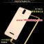 (025-159)เคสมือถือ Case OPPO R3 เคสกรอบโลหะพื้นหลังอะคริลิคเคลือบเงาทองคำ 24K thumbnail 3