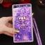 (549-001)เคสมือถือ Case Huawei P8 Lite เคสพลาสติกใส Glitter ทรายดูดหัวใจ thumbnail 2