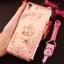 (025-211)เคสมือถือ Case OPPO F1 Plus (R9) เคสนิ่มใสขอบชุบลายดอกไม้ประดับแหวนโลหะ thumbnail 19