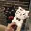 (513-015)เคสมือถือไอโฟน Case iPhone 6/6S เคสนิ่มตัวการ์ตูนแมวน่ารักๆ 3D Lucky Cat thumbnail 1