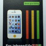 แถบสีติดด้านข้าง สีม่วง for iPhone4S (MSP028) by WhiteMKT
