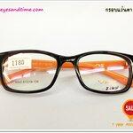 กรอบแว่นตา Vios รุ่น 8003 พลาสติก ดำ-ส้ม