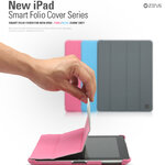 ZENUS Smart Folio Cover Stand Case for The New iPad 3