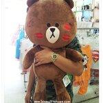 ตุ๊กตาไลน์ Line ลาย หมีบราวน์ Brown รอยจูบ ขนาดใหญ่ 70 cm