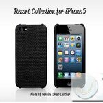 Case kajsa Resort Collection (Sheep Leather) สีดำ for iPhone5 (IP5054)  by WhiteMKT
