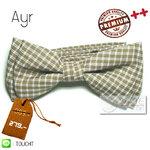 Ayr - หูกระต่าย ลายสก๊อต ลายตาราง น้ำตาล งานไทย Premium Quality++ (BT107) by WhiteMKT