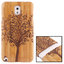 Woodcarving Tree Pattern Detachable Bamboo Material Case เคส Samsung Galaxy Note 3 (III) / N9000 ซัมซุง กาแล็คซี่ โน๊ต 3 thumbnail 1