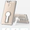 (002-177)เคสมือถือ Case Huawei P9 เคสนิ่มใสทรงถึกสไตล์กันกระแทกขอบหนาขาตั้งในตัว