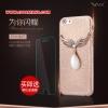 (398-011)เคสมือถือไอโฟน Case iPhone 6/6S เคสพลาสติกหุ้มหนัง PU ประดับเพชรคริสตัลปีกนกโลหะ