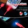 (337-001)สายชาร์จ LED ไฟสถานะสองสี ยี่ห้อ Golf สำหรับหัวชาร์จแบบ iPhone6/5S/5C/5 ยาว 1 เมตร