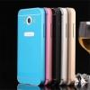 (025-082)เคสมือถือซัมซุง Case Samsung Core Max เคสกรอบบัมเปอร์โลหะฝาหลังอะคริลิคทูโทน