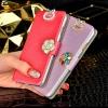 (022-007)เคสมือถือ Samsung Galaxy Note2 เคสฝาพับเปิดข้าง Rhinestone สวยวิ้งๆ