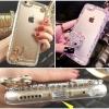 (011-001)เคสมือถือไอโฟน 4/4s Case iPhone เคสพลาสติกใสประดับคริสตัลน่ารักๆ สวยๆ 3D