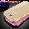 (388-010)เคสมือถือซัมซุง Samsung Galaxy S3 เคสกรอบโลหะพื้นหลังอะคริลิคทูโทน