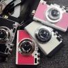 (466-001)เคสมือถือไอโฟน case iphone 6/6S เคส metallized สี PC + ซิลิโคน + หนังสังเคราะห์กล้องถ่ายรูป 3D