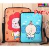 (215-008)เคส iPad Air แบบกระเป๋าลายการ์ตูนเกาหลี