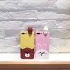 (483-036)เคสมือถือไอโฟน Case iPhone 7 เคสนิ่มหมีกระต่าย 3D เกาะหน้าจอ