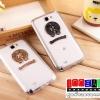 (152-039)เคสมือถือ Samsung Galaxy Note2 เคสนิ่มใสโลโก้โลหะแฟชั่น
