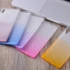 (436-104)เคสมือถือโซนี่ Case Sony Xperia X เคสนิ่มไล่โทนสีพื้นหลัง Glitter กากเพชร