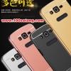 (025-128)เคสมือถือซัมซุง Case Samsung A8 เคสกรอบโลหะพื้นหลังอะคริลิคเคลือบเงาทองคำ 24K