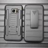 (002-106)เคสมือถือซัมซุง Case Samsung Galaxy S7 เคสนิ่ม+พื้นหลังประกบแบบพลาสติก+มีขาตั้ง+ที่เหน็บเอวสไตล์กันกระแทก