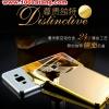 (494-001)เคสมือถือซัมซุง case samsung A5 เคสกรอบโลหะพื้นหลังอะคริลิคเคลือบเงาทองคำ 24K