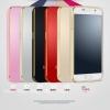(140-015)เคสมือถือซัมซุง Case Samsung S6 เคสพรีเมี่ยมกรอบโลหะตัดขอบทองพื้นหลังอะคริลิคสีสไตล์โลหะ