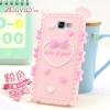 (412-033)เคสมือถือซัมซุง Case Samsung A9 Pro เคสนิ่ม 3D Youth Love ลายหัวใจและโบว์น่ารักๆ