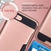 (002-167)เคสมือถือไอโฟน Case iPhone 7 Plus เคสนิ่ม+พื้นหลังพลาสติกกันกระแทกมีช่องใส่การ์ด