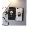 (025-207)เคสมือถือ Case OPPO A59/F1s เคสนิ่มลายตารางประดับแหวนโลหะ