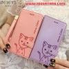 (391-067)เคสมือถือ Case Huawei P8 เคสนิ่มสมุดเปิดข้างลายแมวน่ารักๆ DOMI CAT