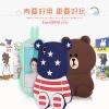 (013-032)เคสมือถือ Case OPPO R7s เคสนิ่มหมีลายธงชาติ