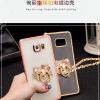 (389-043)เคสมือถือซัมซุง Case Samsung Galaxy S7 Edge เคสนิ่มใสขอบชุบแววติดแหวนโลหะลายน่ารักๆ