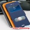 (352-007)เคสมือถือ Case OPPO N3 เคฝาพับโชว์สองหน้าจอเทกเจอร์สไตล์ผ้าไหม
