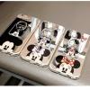(025-446)เคสมือถือไอโฟน Case iPhone 7 เคสนิ่มใสพื้นหลังแววลาย Mickey Minnie