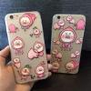 (151-317)เคสมือถือไอโฟน case iphone 5/5s/SE เคสนิ่มใสลายลูกพีชแก้มป่อง