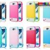 (308-004)เคสมือถือ Samsung Galaxy Note2 เคสทูโทนขอบนิ่ม