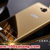 (025-151)เคสมือถือ Case Huawei Honor 3C เคสกรอบโลหะพื้นหลังอะคริลิคเคลือบเงาทองคำ 24K