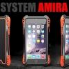 (471-005)เคสมือถือไอโฟน case iphone 6/6S เคสเกราะโลหะ+กระจก+เคสนิ่มลายเคฟล่า SYSTEM AMIRA