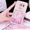 (559-013)เคสมือถือซัมซุง Case Samsung S6 Edge เคสนิ่มใสเพชรคริสตัลขวดน้ำหอมแฟชั่นสวยๆ