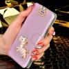 (022-017)เคสมือถือซัมซุง Samsung Galaxy S3 เคสพลาสติกฝาพับเปิดข้าง Rhinestone สวยวิ้งๆ