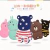 (013-009)เคสมือถือ Case OPPO Neo 5s/Joy5 เคสนิ่มตัวการ์ตูนกระต่ายและหมี 3D
