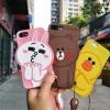 (513-046)เคสมือถือไอโฟน Case iPhone 6Plus/6S Plus เคสนิ่ม 3D Line Friends