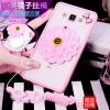 (559-011)เคสมือถือซัมซุง Case Samsung A8 เคสพลาสติกขอบนิ่มพื้นหลังติดกระจกส่องหน้ารูปการ์ตูน